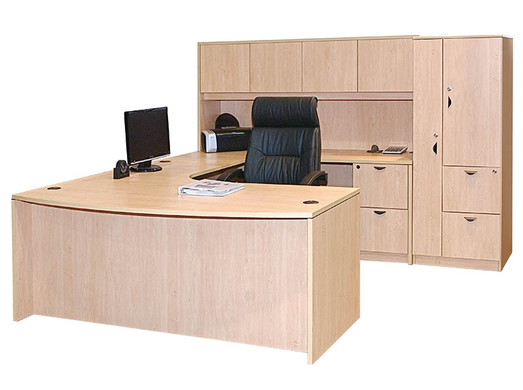 Bow Front Workstation Package-2
