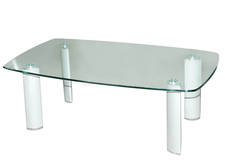 Coffee Table Glass Top With Chrome Leg Techno Office Furniture