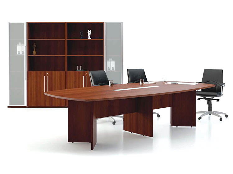 Laminated Boardroom Table with Stain Glass