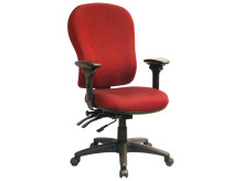 Prima Series High Back Multi-Task Chair w Seat slider and Rotating Armrest.