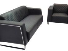 Contemporary Quilted Reception Sofa