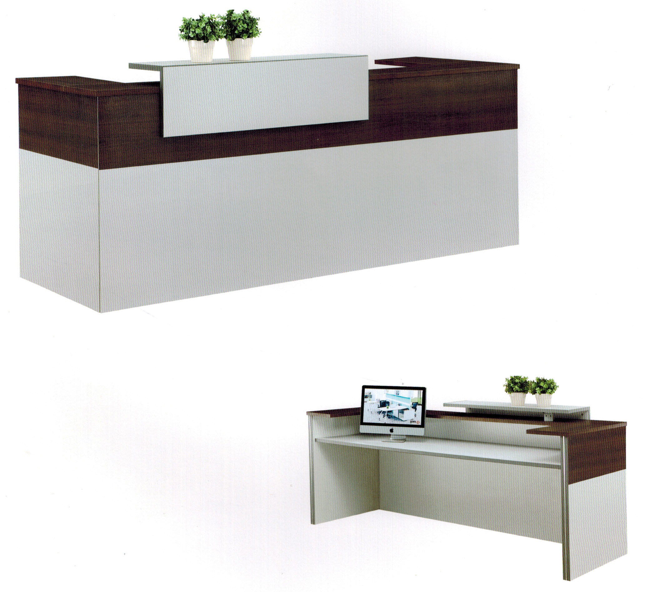 Reception counter and desk techno office furniture for Reception furniture
